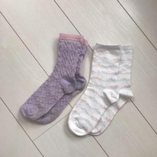 ジーユー(GU)の靴下 ソックス 3点セット 16〜18cm、19〜21cm(靴下/タイツ)