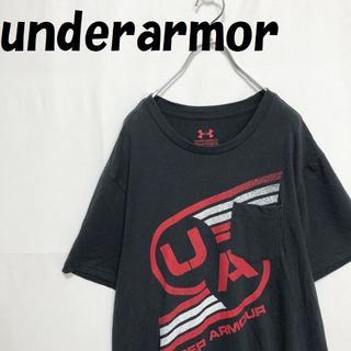 UNDER ARMOUR - アンダーアーマー ビックロゴ ポケット Tシャツ LOOSE ブラック LG