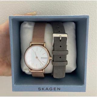 SKAGEN - 美品 SKAGEN スカーゲン 腕時計 ピンクゴールド