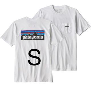 patagonia - パタゴニア P-6ロゴ レスポンシビリティー  ポケット付 ホワイト Sサイズ