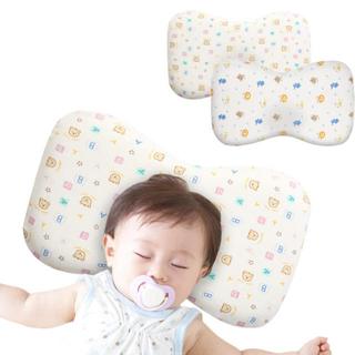 ベビーナチュレタ 絶壁防止 向き癖 低反発 通気性 綿100% 洗える枕カバー