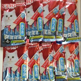 イナバペットフード(いなばペットフード)の国産品 猫のおやつ チャオスティック かつお 40本(ペットフード)
