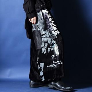 Yohji Yamamoto - ヨウジヤマモト ベルベット バルーンパンツ『全部やって死ね』