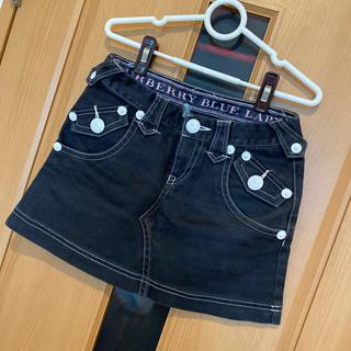 バーバリーブルーレーベル(BURBERRY BLUE LABEL)の♡バーバリーブルーレーベル デニムミニスカート(ミニスカート)