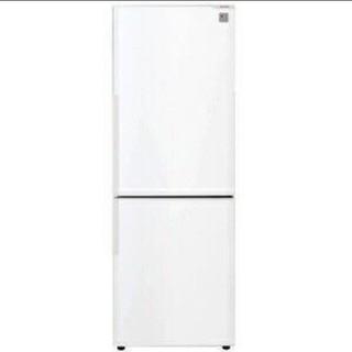 SHARP - 冷蔵庫 シャープ ホワイト カップルサイズ スリムタイプ プラズマクラスター
