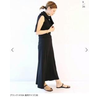 ドゥーズィエムクラス(DEUXIEME CLASSE)のはな様専用【新品タグ付】ドゥーズィエムクラス バックサテンフレアスカート(ロングスカート)