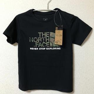 THE NORTH FACE - ノースフェイス 新品 カモロゴTシャツ 140 黒