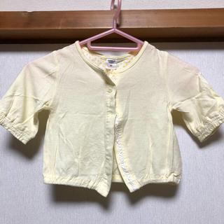 80㎝ カーディガン薄黄色