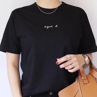 agnes b. - agnes b. アニエスベー チビロゴTシャツ 半袖 レディース ブラック L