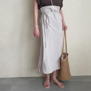 トゥデイフル(TODAYFUL)のi am official linen wrap skirt(ロングスカート)