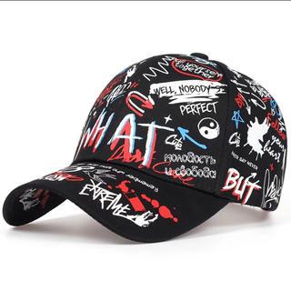 ストリート キャップ 帽子 英字ロゴ ブラック