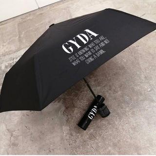 GYDA - GYDA 新品 GYDA LOGO unbrella 傘 日傘 ブラック