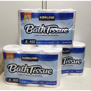コストコ(コストコ)の18ロール ★ コストコ トイレットペーパー Bath Tissue 3袋(収納/キッチン雑貨)