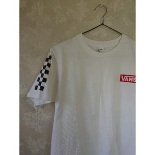 VANS - 【VANS】カジュアルホワイトTシャツ古着バックプリントSサイズ