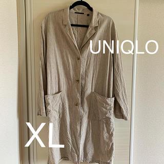 UNIQLO - ユニクロ リネンブレンドコート