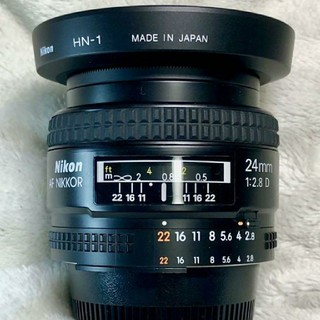 ニコン(Nikon)の使用感少! 超美品! 純正フード!Nikon Ai AF 24mm f2.8 D(レンズ(単焦点))