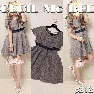 CECIL McBEE - p212 CECIL Mc BEE セットアップ風ワンピース ママさんにも♡