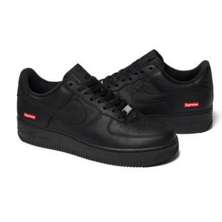 NIKE - supreme × Nike air force 1 BLACK 27.5cm
