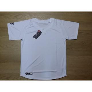 アンダーアーマー(UNDER ARMOUR)のアンダーアーマー 半袖 野球 シャツ M 白 ホワイト ユニフォーム 新品(ウェア)