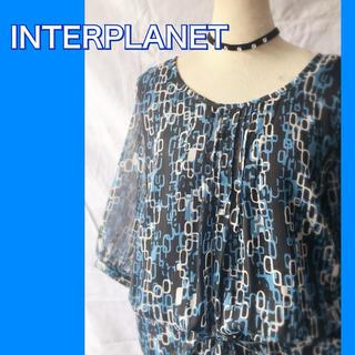 インタープラネット(INTERPLANET)のINTERPLANET幾何学柄 チュニック(チュニック)