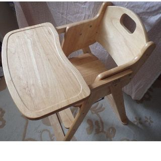 カトージ(KATOJI)の説明書付き カトージ 木製ハイチェア 椅子(その他)