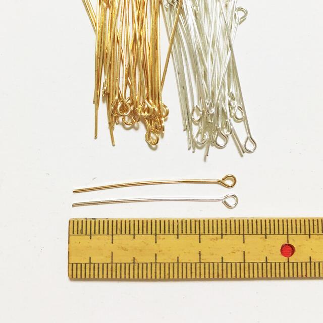 100個♡9ピン 38mm 2色セット ハンドメイドの素材/材料(その他)の商品写真