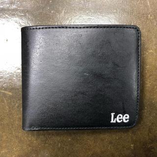 新品 未使用 Lee 二つ折り財布 黒 ブラック(折り財布)