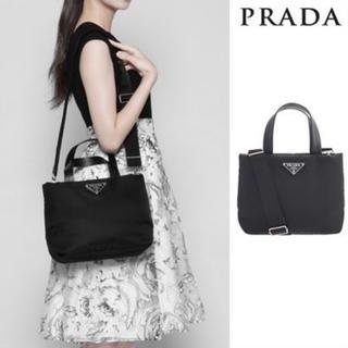 PRADA - プラダ トートバッグ パテッドナイロン 2way ブラック