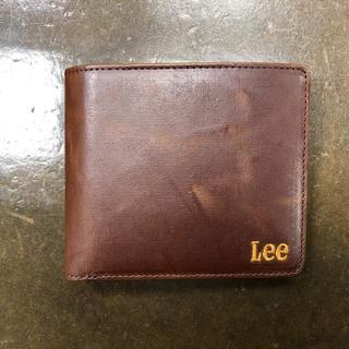 リー(Lee)の新品 未使用 Lee 二つ折り財布 チョコ(折り財布)