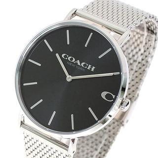 コーチ(COACH)のコーチ腕時計 14602144 チャールズ クォーツ ブラック シルバー(腕時計(アナログ))