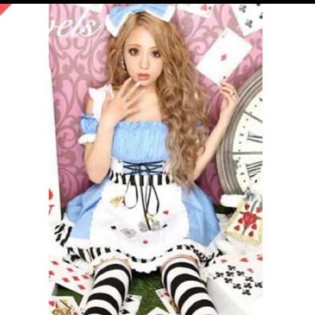 JEWELS(ジュエルズ)のコスプレ 仮装 Jewels アリス 不思議の国のアリス ハロウィン 3点セット エンタメ/ホビーのコスプレ(衣装)の商品写真