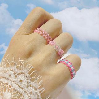 ディーホリック(dholic)の《11》pink 3set ビーズリング(リング)