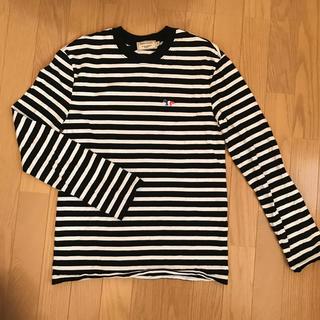 メゾンキツネ(MAISON KITSUNE')のメゾンキツネ ロンティー Tシャツ 美品 xs(Tシャツ/カットソー(七分/長袖))
