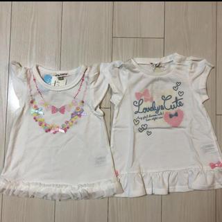 エニィファム(anyFAM)の新品未使用 anyFAM エニィファム 90 2点 Tシャツ(Tシャツ/カットソー)
