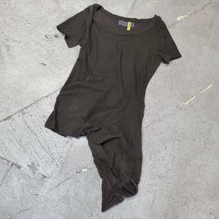 ヨウジヤマモト(Yohji Yamamoto)のヨウジヤマモト プリュス ノアール 変形 カットソー 2(カットソー(半袖/袖なし))