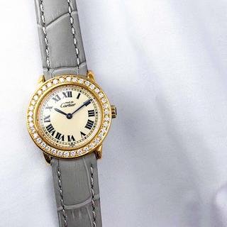 Cartier - 【保証書付】カルティエ ロンド SM ゴールド ダイヤ レディース 腕時計