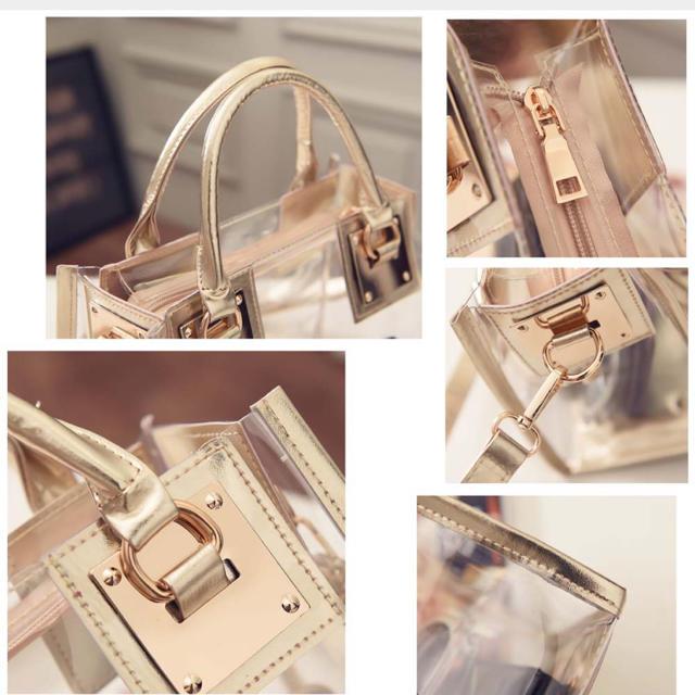 dholic(ディーホリック)のクリアバッグ レディース ショルダーバッグ プールバッグ 透明 トートバッグ レディースのバッグ(トートバッグ)の商品写真