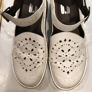 センソユニコ(Sensounico)のセンソユニコ 白革シューズ(ローファー/革靴)
