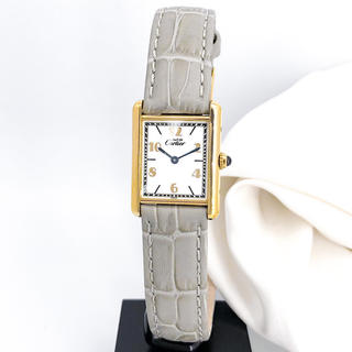 Cartier - 【仕上済/ベルト二色】カルティエ タンク 飛びアラビア レディース 腕時計