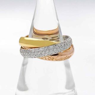 カルティエ(Cartier)の【仕上済】カルティエ トリニティリング ダイヤ 12号 レディース 指輪(リング(指輪))