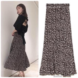 snidel - 完売色🌷新品🍀スナイデル プリントナローフレアスカート