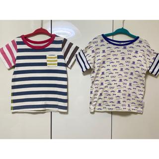 ベルメゾン(ベルメゾン)の【値下げ!】《90》ベルメゾン・ハンドメイドTシャツ 2枚セット!!(Tシャツ/カットソー)