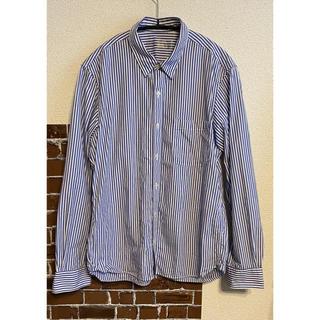 ムジルシリョウヒン(MUJI (無印良品))の無印良品 ストライプ シャツ メンズ 青(シャツ)