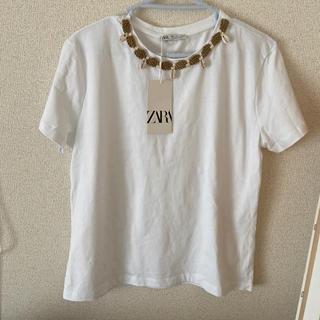 ザラ(ZARA)の新品 ZARA 貝殻 tシャッ(Tシャツ(半袖/袖なし))