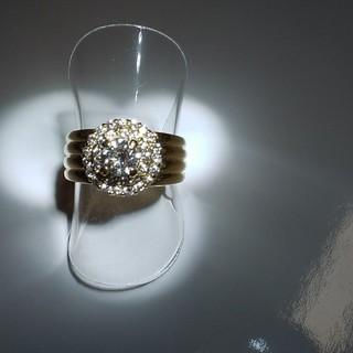 K18ダイヤリング K18リング プラチナ リンゴ キラキ指輪
