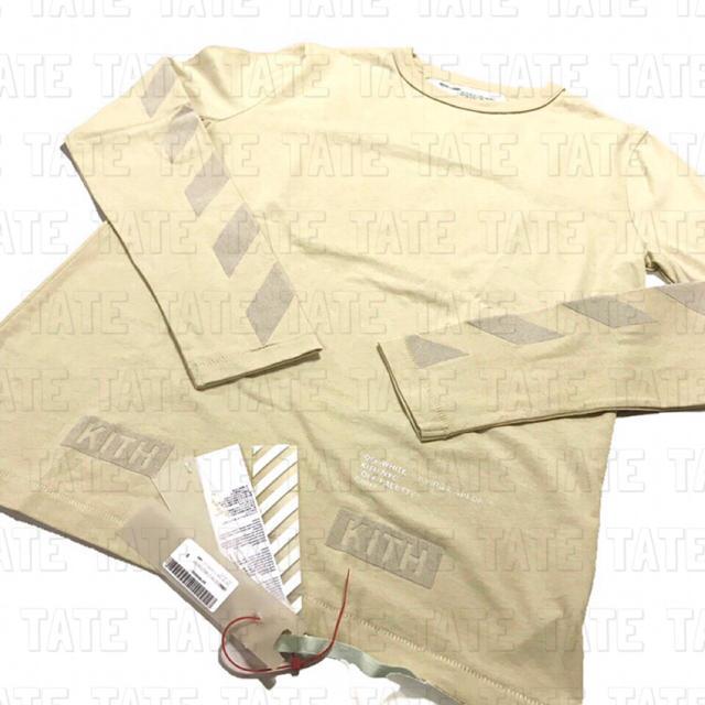 正規品 KITH × OFF-WHITE フロック ロングTシャツ サンド メンズのトップス(Tシャツ/カットソー(半袖/袖なし))の商品写真