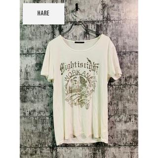 ハレ(HARE)のHARE ART アート silver logo T-shirt Tシャツ  白(Tシャツ/カットソー(半袖/袖なし))
