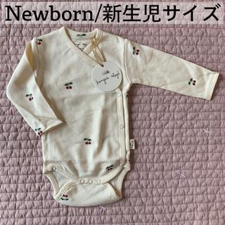 Bonpoint - 新品 コンゲススロイド  チェリー ロンパース 新生児