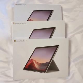 新品3台SurfacePro7 i5/12.3型/128GB/VDV-00014