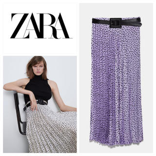 ZARA - 新品 ZARA ベルト付きプリーツスカート M
